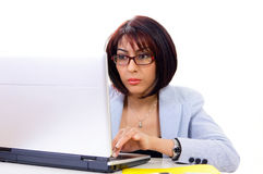 Professional woman working Stock Photo