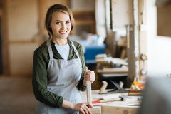 Professional woodworker Stock Image