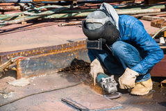 Professional worker in construction industry Stock Images