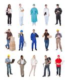 Professional workers, businessman, cooks, doctors, Royalty Free Stock Images