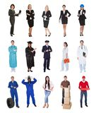 Professional workers, businessman, cooks, doctors, Royalty Free Stock Photography