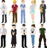 Professional workers collage Stock Image