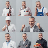 Professional workers collage Stock Images