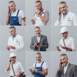 Professional workers collage Stock Photo