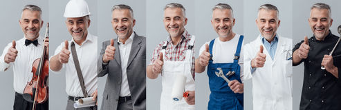 Professional workers collage Royalty Free Stock Image