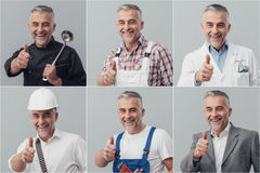 Professional workers collage Stock Photography