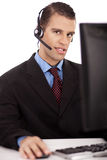 Professional working as a customer care assittant Royalty Free Stock Images