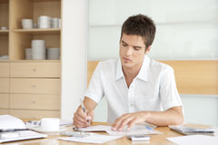 Professional Working on Finances Royalty Free Stock Photo