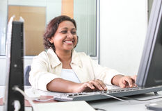 Professional working woman with jacket Royalty Free Stock Photo