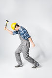 Professional workman in hard hat Royalty Free Stock Photos