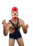 Professional Wrestler With Mask Royalty Free Stock Photo