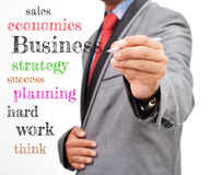 Professional writing a plan Stock Photography