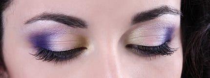 Professional ye makeup Royalty Free Stock Photos