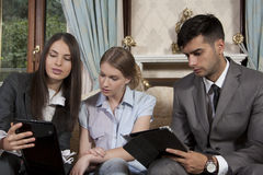 Professional young  business people Royalty Free Stock Images