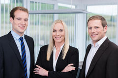Professional young happy team in the office Stock Photo