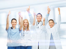 Professional young team or group of doctors stock photos