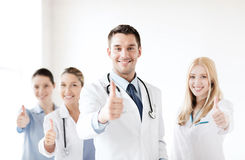 Professional young team or group of doctors royalty free stock photos