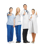 Professional young team or group of doctors royalty free stock images