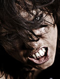 Professionally retouched portrait of angry woman Stock Photo