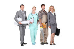 Professionals from different domains Stock Image