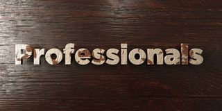Professionals - grungy wooden headline on Maple  - 3D rendered royalty free stock image Stock Photo
