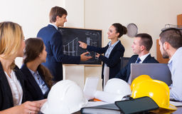 Professionals  having meeting indoors Royalty Free Stock Photo