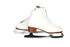 Professionals lady ice skates. Isolated on the white background Royalty Free Stock Image