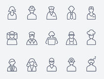 Professionals, people icons Stock Image