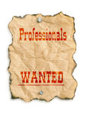 Professionals wanted Stock Image