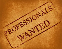 Professionals wanted Royalty Free Stock Image