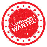 Professionals wanted Royalty Free Stock Images