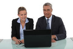 Professionals watching a slide show Stock Photos