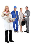 Professionals at work. Diverse professionals at work together royalty free stock images