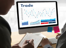 Professionals working Trade  Finance Forex Graph Chart Concept m Stock Photos
