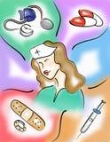 Professione d'infermiera Fotografia Stock