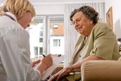 professione d'infermiera domestica Fotografia Stock