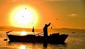 Professione di pesca immagini stock