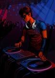 Professione fissata: Il DJ Immagine Stock Libera da Diritti