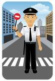 Professione fissata: Ufficiale di polizia Fotografia Stock