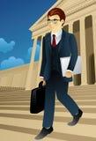 Professione fissata: Uomo d'affari Immagini Stock