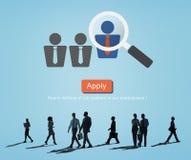 Professione Job Seeker Concept di occupazione di applicazione Fotografie Stock Libere da Diritti