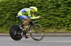 Professioneel Cirkelend Team tinkoff-Saxo's in Tour DE Suisse 2015 Stock Foto's