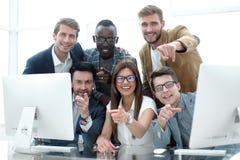 Professioneel commercieel team bij het Bureau Royalty-vrije Stock Fotografie