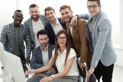 Professioneel commercieel team bij het Bureau Royalty-vrije Stock Foto