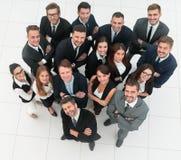 Professioneel commercieel team Op witte achtergrond stock fotografie