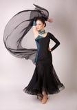 Professioneel dansersmeisje in motie Stock Foto