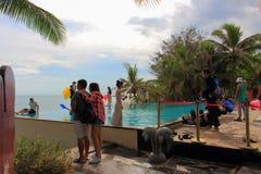 Professioneel de industriehuwelijk photoshoots op Hainan-eiland royalty-vrije stock fotografie