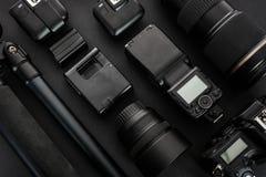 Professioneel fotografisch materiaal stock fotografie