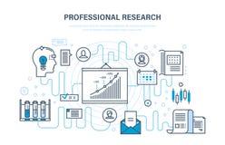 Professioneel onderzoek Bedrijfs planning, strategie, controle, analyse, systemenontwikkeling, onderwijs royalty-vrije illustratie