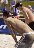 Professioneel Strandvolleyball stock foto